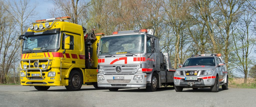 Bergungsfahrzeuge von Wienken Nutzfahrzeugservice in Brake, Nordenham und Varel